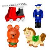 Vector speelgoed. reeks 2 Royalty-vrije Stock Foto's