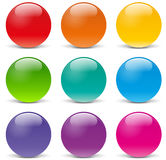 Vector sphere icons stock illustration