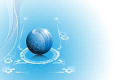 Vector sphere science working innovation concept background Stock Photography