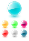 Vector sphere set Royalty Free Stock Images