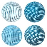 Vector Sphere Set Royalty Free Stock Image