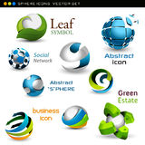 Vector spheres Stock Photos