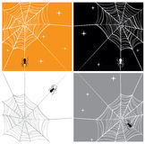 Vector Spider & SpiderWeb. Cartoonish vector illustration of spider webs Stock Image