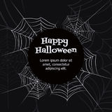 Vector spider web. Spider web. Black and white vector bacground for halloween Stock Photography