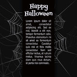 Vector spider web. Spider web. Black and white vector bacground for halloween Royalty Free Stock Images