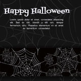 Vector spider web. Spider web. Black and white vector background for halloween Royalty Free Stock Images