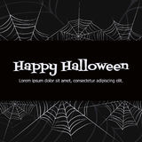 Vector spider web. Spider web. Black and white vector background for halloween Royalty Free Stock Photography