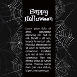 Vector spider web. Spider web. Black and white vector background for halloween Royalty Free Stock Image