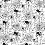 Vector spider web silhouette spooky spiders seamless pattern background halloween cobweb decoration fear spooky net. Vector spider web silhouette spooky nature Stock Image