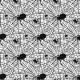 Vector spider web silhouette spooky spiders seamless pattern background halloween cobweb decoration fear spooky net. Vector spider web silhouette spooky nature Stock Photography