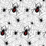Vector spiders seamless pattern. Vector illustration. Royalty Free Stock Photo