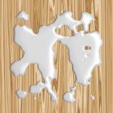 Vector Spilt Milk !. Spilt milk on wood floor or table top, oops! Vector also vector illustration