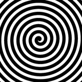 Vector spiral background in black and white. Hypnosis theme. Abstract design element Royalty Free Stock Photography