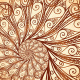 Vector spiral background in henna tattoo style Royalty Free Stock Photography