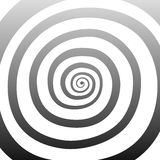 Vector spiral, background. Hypnotic, dynamic vortex. Vector spiral, background. Hypnotic, dynamic vortex Object on white background Royalty Free Stock Photos