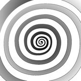 Vector spiral, background. Hypnotic, dynamic vortex. Vector spiral, background. Hypnotic, dynamic vortex Object on white background Royalty Free Stock Photography