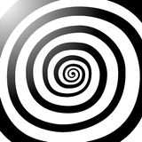 Vector spiral, background. Hypnotic, dynamic vortex. Vector spiral, background. Hypnotic, dynamic vortex Object on white background Stock Photography