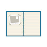 Spiral-bound notebook Royalty Free Stock Photos