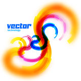 Vector spiral card with blurred edge Stock Images