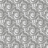 Vector spiral decorative doodles pattern Royalty Free Stock Photo