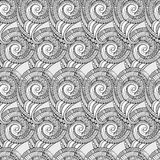 Vector spiral decorative doodles pattern Stock Images