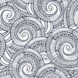 Vector spiral decorative doodles pattern Stock Photos