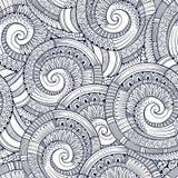 Vector spiral decorative doodles pattern Stock Photos