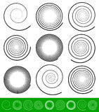 Vector Spiral Set Royalty Free Stock Photography