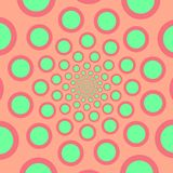 Vector spiral. Spiral. The concentric circles. The silhouette of the spiral. Effect, hypnosis, the symmetry of the spiral stock illustration