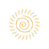 Vector spiral sun icon. Isolated on white background. Stock Photo