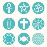 Vector Spiritual Symbols Set Illustration Stock Images