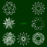Vector spirograph design elements Stock Photo