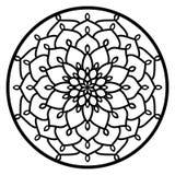Vector Spitzen- runde Mandala Verzierung der Schablone mit geschnitztem openwork stock abbildung