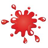 Vector splash. Vector Red color splash illustration isolated on white stock illustration