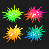 Vector Splash banners. Vivid splats illustration Stock Photos