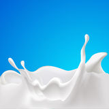 Vector splash of milk - design with blue Stock Photo