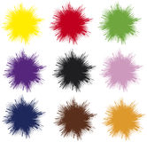 Vector splashes. Set of uni colored vector splashes, which can be arranged in many ways and mixed up as wanted Stock Photo