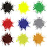 Vector splashes. Set of uni colored vector splashes, which can be arranged in many ways and mixed up as wanted Stock Image