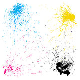 Vector splashes set Royalty Free Stock Photography