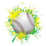 Vector Splatter Baseball Royalty Free Stock Photo