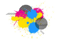 vector Splatter color grunge graphic background Stock Photography