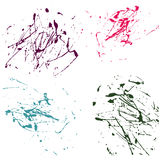 Vector splatter paint abstract on white background set hand draw Stock Photography
