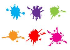 Vector splatter set collection design. illustration  color. Design Royalty Free Stock Image