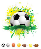 Vector splatter sport balls Royalty Free Stock Photos