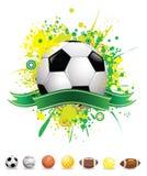 Vector splatter sport balls Royalty Free Stock Photos