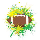 Vector Splattered American Football. High detail vector illustration of splattered football Royalty Free Stock Image