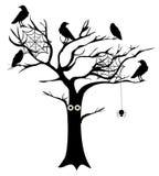Vector Spooky Tree Stock Photo