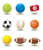 Vector Sport Ball. High detail  illustration of sport balls Royalty Free Stock Photos