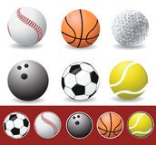 Vector sport balls Royalty Free Stock Image