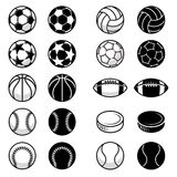 Vector Sport Balls and equipment Illustrations Royalty Free Stock Photos